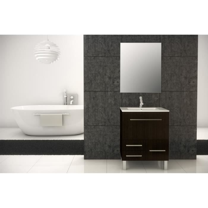 meuble de salle de bain monaco meuble weng 60 cm achat vente salle de bain complete meuble. Black Bedroom Furniture Sets. Home Design Ideas