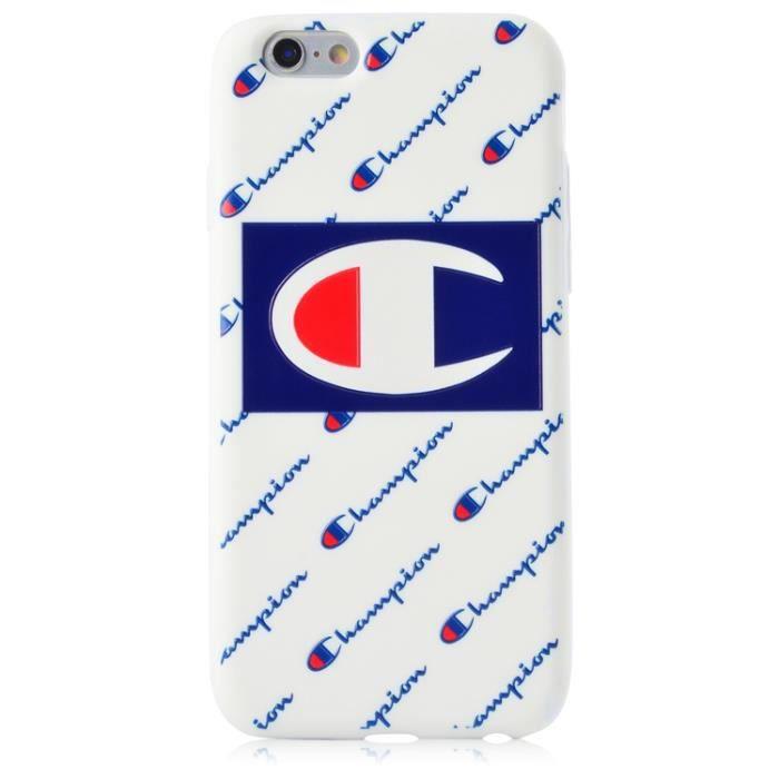 coque iphone 7 8 champion blanc marque populaire c