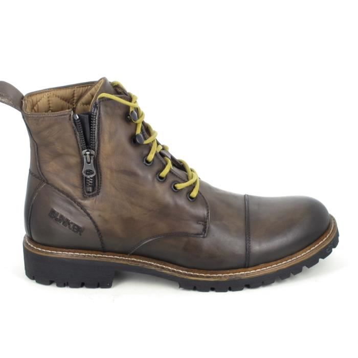 Botte et botine BUNKER Work Marron - guLY4