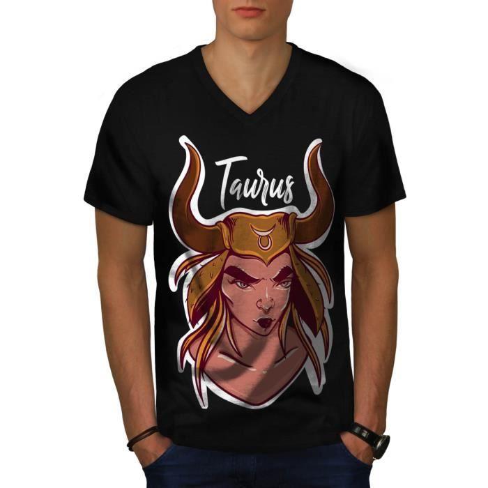 T-SHIRT Taureau Étoiles Zodiaque Signe Men  T-shirt à sonn
