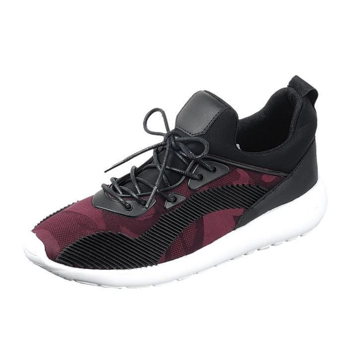 Respirant à lacets Stripe Side Casual Sport Sneaker Mode L983Q Taille-40
