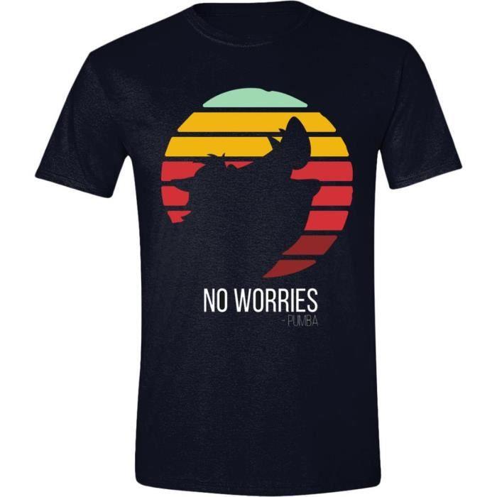 Disney-Roi Lion-No Worries-Officiel-filles-T Shirt-Gris