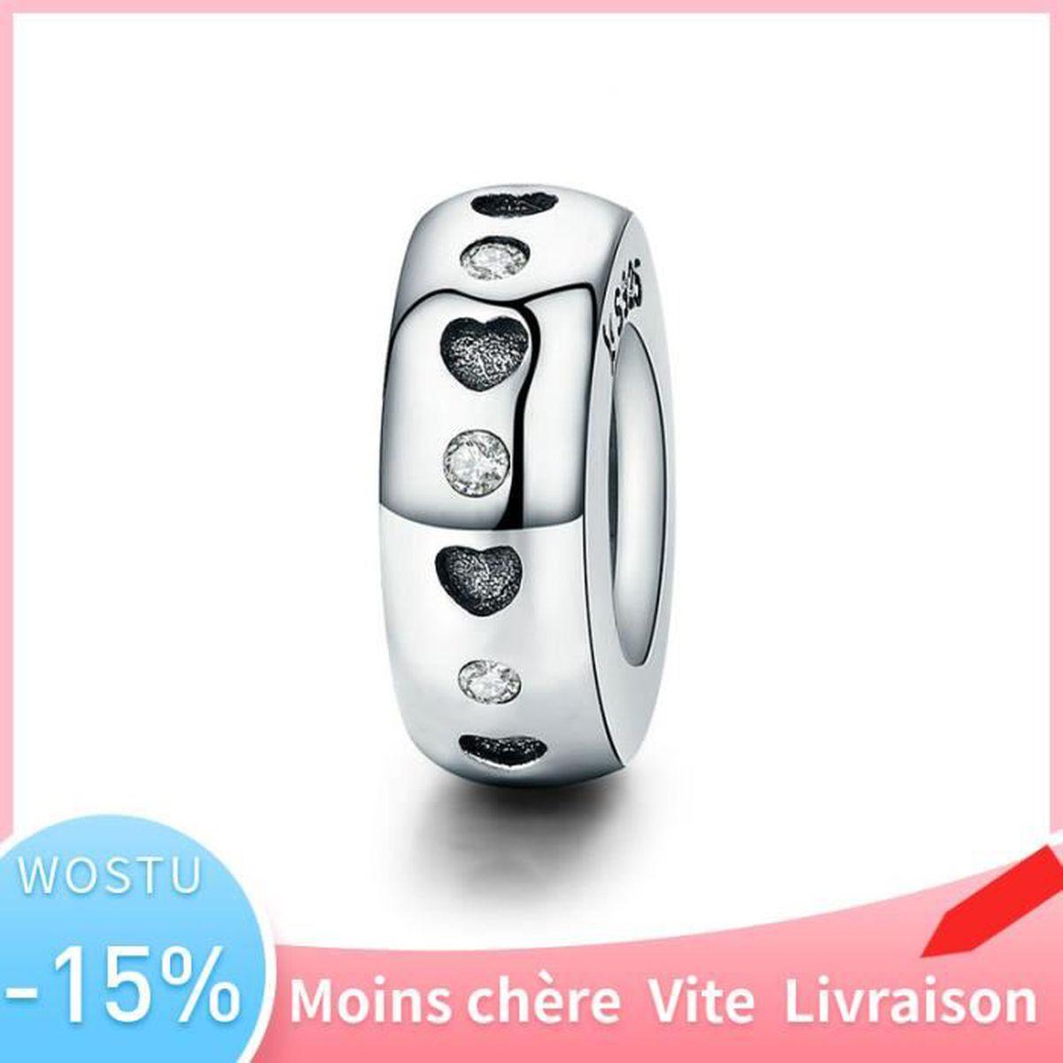 AAA Argent Sterling 925 Étoiles Pendentif Charm Bead Pour Femmes Bracelet Collier