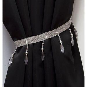 Blanc Rideau Voile Embrasse Perle perl/é Cordon embrasses Ideal Textiles Royal Embrasse