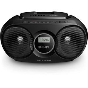 RADIO CD CASSETTE Philips AZ215B Lecteur CD,CD-R,RW Portable, Facile