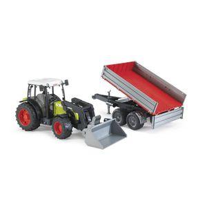 TRACTEUR - CHANTIER Bruder 02112 - Tracteur Claas Nectis 267 F Rouge A