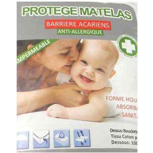 PROTÈGE MATELAS  Protège matelas 140x190+25 cm imperméable et an…
