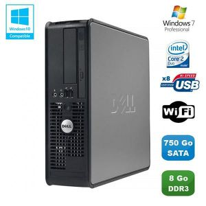 UNITÉ CENTRALE  PC DELL Optiplex 780 Sff Core 2 Duo E7500 2,93Ghz