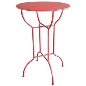 MANGE-DEBOUT Table haute de bar mange-debout ronde (Rouge)