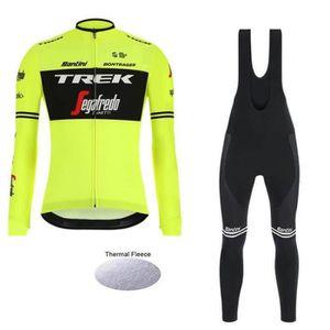 TENUE DE CYCLISME 2019 Trek Segafredo Maillot de Cyclisme Hiver Ther