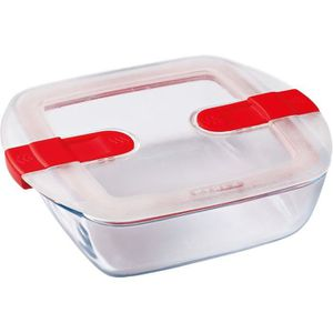BOITES DE CONSERVATION PYREX - COOK&HEAT - Boîte carrée en verre avec cou