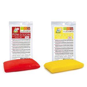 PATE A SUCRE Kit de pâte à sucre Espagne - jaune-rouge