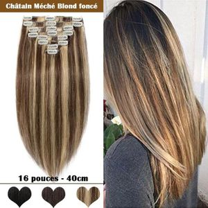 Meche blonde fine sur brune
