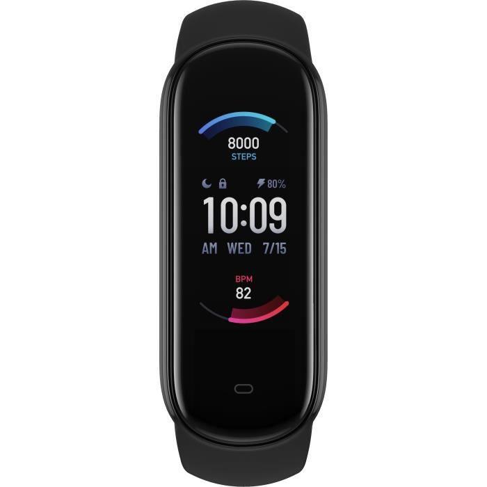 Amazfit Band 5 Autonomie de la batterie de 15 jours Surveillance de l'oxygène sanguin Alexa intégré