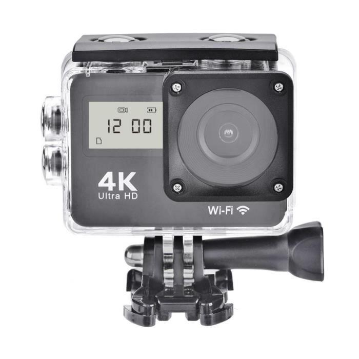 4K Full HD Caméra de sport tactile Caméra de double écran WiFi Action 1080P