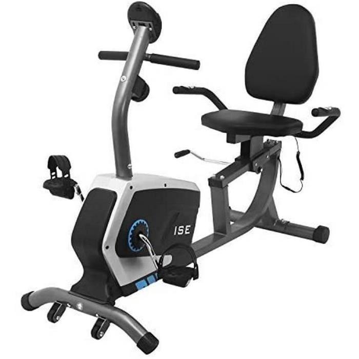 Velo fitness semi allongé professionnel - Siege reglable en hauteur longueur - Pour appartement salle de sport home gym fitness