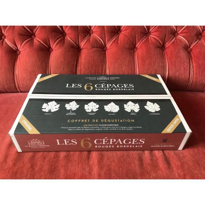 Coffret de dégustation de vin -Les 6 Cépages Rouges Bordelais-