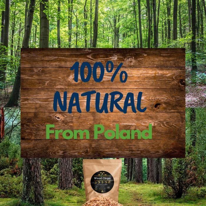 6 Litres de Copeaux de Bois de Fumage pour Fumoir et Barbecue - Bois 100% Naturel des Forêts de Pologne