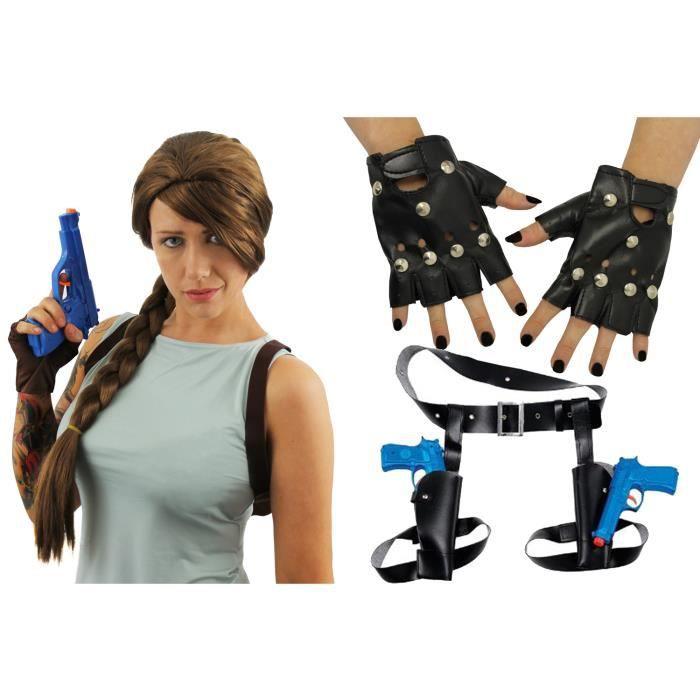 Déguisement accessoire Lara Croft pour adulte.