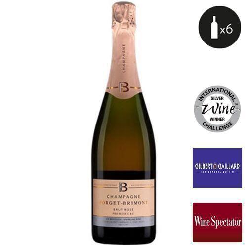 6 bouteilles - Champagne rose - Effervescent - Forget-Brimont Brut Rosé Premier Cru 1er Cru Rosé 6x75cl