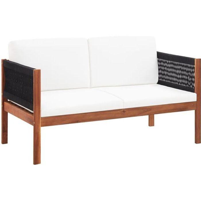 ♫2597 Canapé de jardin Classique à 2 places - Sofa Divan Salon de jardin Bois d'acacia massif MMCZ®