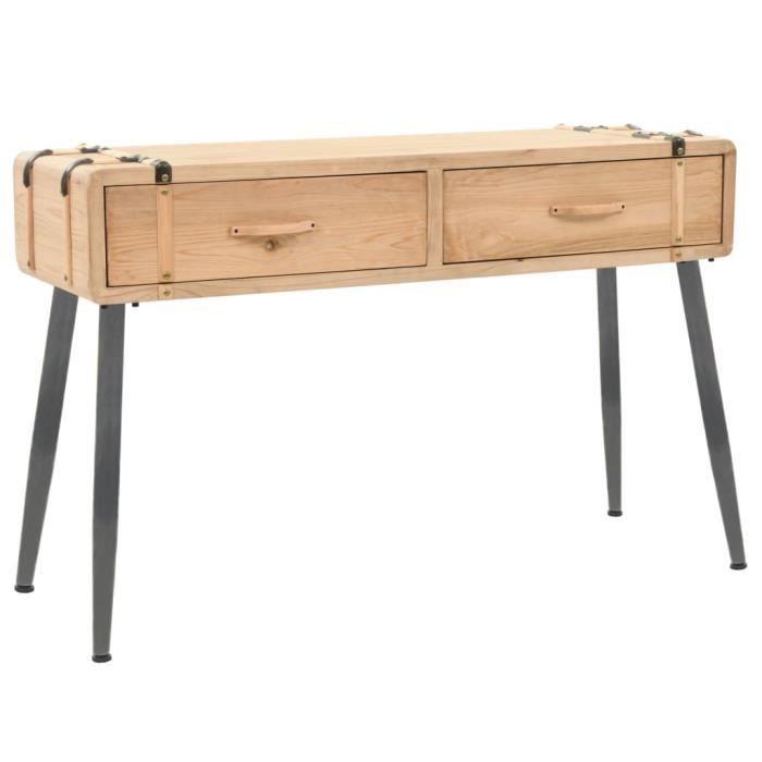 Furniture® Table console Design - Table d'appoint Table d'entrée Bois massif de sapin 115 x 40,5 x 76 cm ☺75160