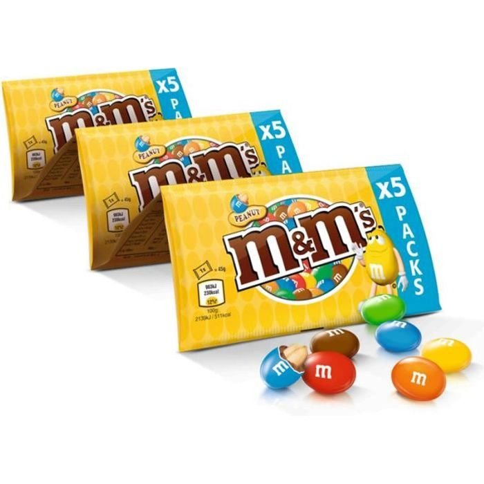 MARS WRIGLEY CONFECTIONERY FRANCE Cacahuète M&M's - 5x45 g