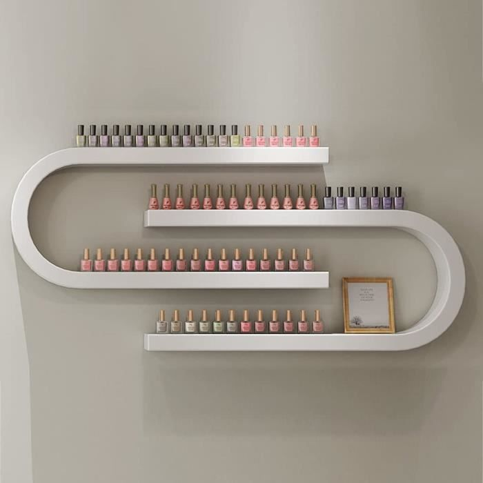 VERNIS A ONGLES etagere murale en metal en forme de U pour vernis a ongles salon de maquillage cosmetiques252