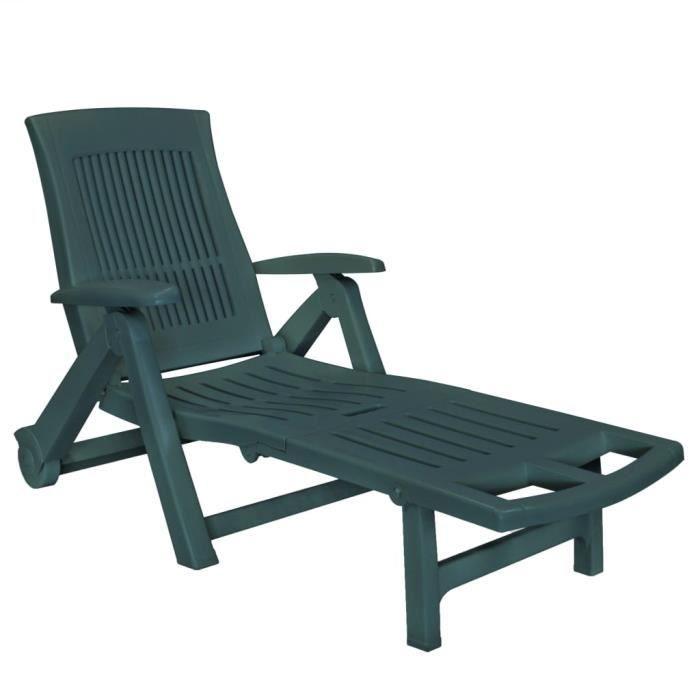 KING&3684Excellent-Chaise longue Transat Bains de soleil Moderne -Fauteuil Relax Fauteuil Chaise Camping repos avec repose-pied Plas