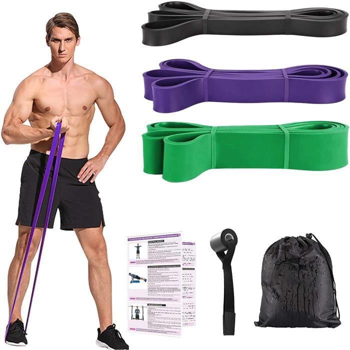 Bande de Resistance Musculation, Bande Elastique Fitness Traction Resistance Band Kit Bandes Elastiques Set, Fitness Bandes
