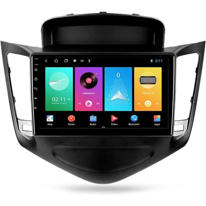 Autoradio Bluetooth Double Din avec GPS 9'' Écran Tactile 5G WiFi Plug and Play Full RCA SWC Support Carautoplay-GPS-Dab+-OBDII 606