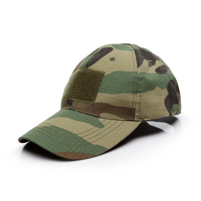 Sports de plein air Snap Back casquettes Camouflage chapeau simplicité tactique militaire armée Camo 16 Adjustable