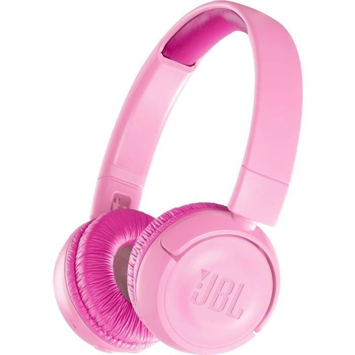 JBL JR 300 BT rose - Casque sans fil pour enfants - Bluetooth - Autonomie 12h