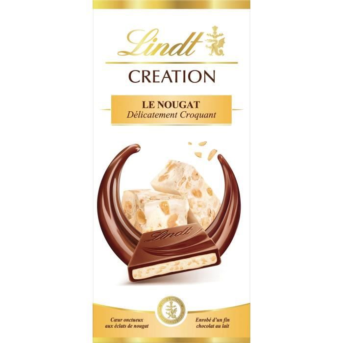 Tablette de Chocolat Lindt Creation Le Nougat - 150G