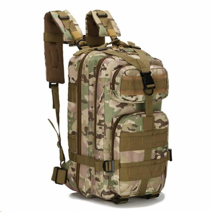 1000D 30L Sport Extérieur Tactique Militaire épaule Armée Sac à dos pour Camping Trekking Randonnée - CP Camouflage