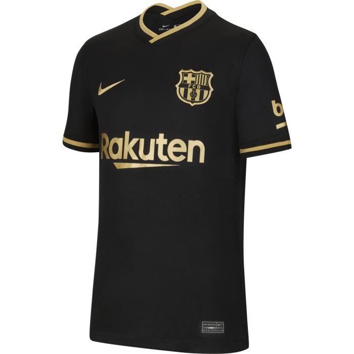 Maillot Nike Barcelonne Exterieur 2020-21 noir / or enfant