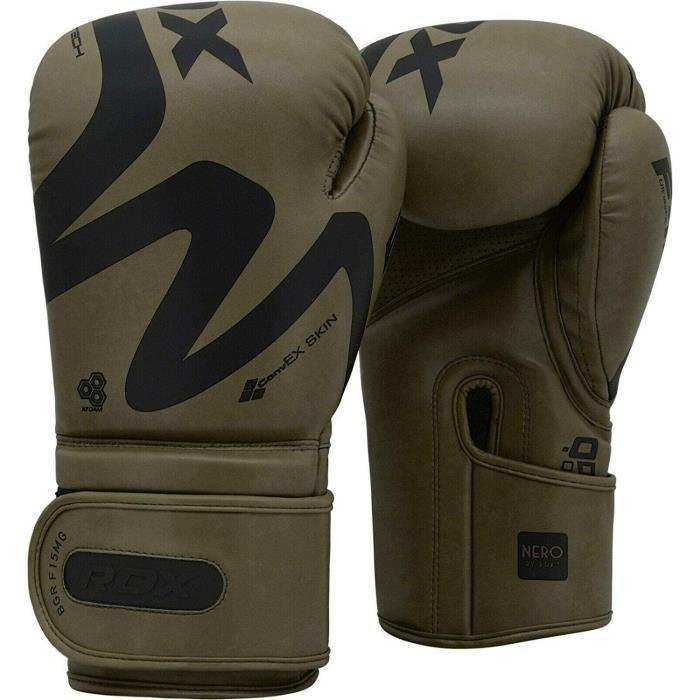 Gants de boxe RDX pour Muay Thai et entraînement, gants en cuir convexes pour le Sparring, Kickboxing, sacs de frappe, gants de boxe