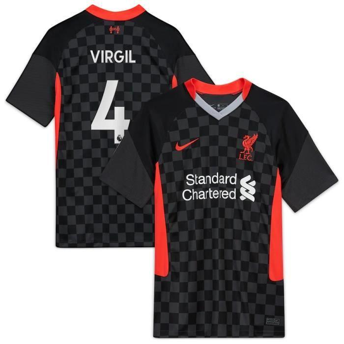 Nouveau Maillot de Foot Virgil Van Dijk Liverpools 2020 2021 Pas Cher pour Homme