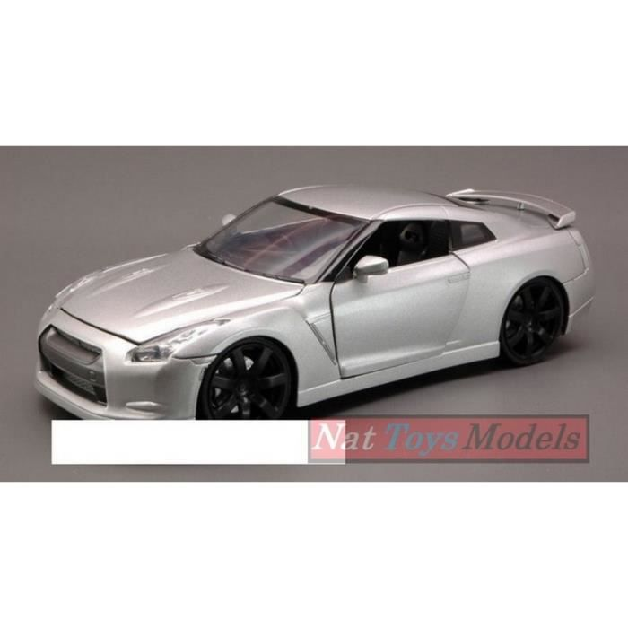 NEW RAY NY71933S NISSAN GTR 2009 SILVER 1:24 maquette DIE CAST MODEL