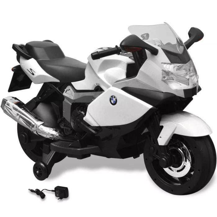 Moto électrique BMW 283 blanc 6 V pour enfant