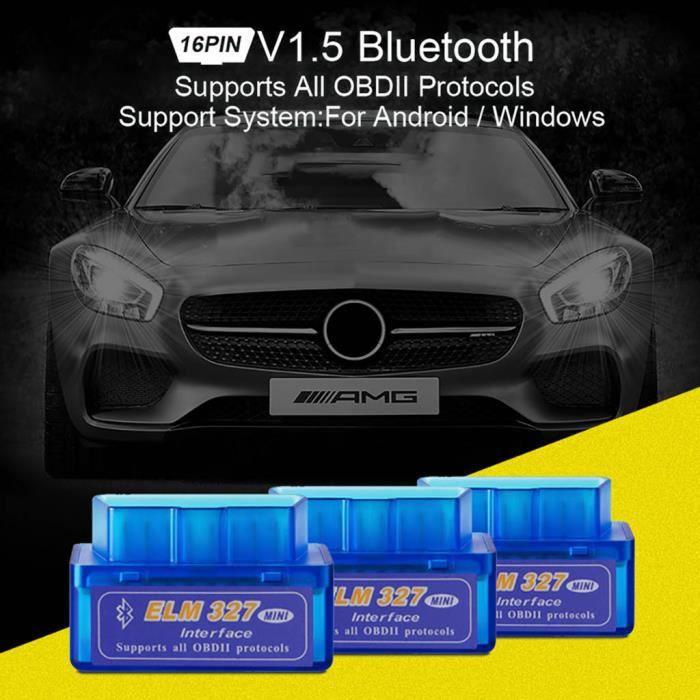 Mini OBD2 OBDII ELM327 Outil diagnostique de voiture Protocols Scanner Acc