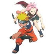 Stickers naruto avec fille cheveux roses 23 cm sur 13 cm for Decoration murale naruto