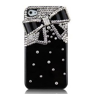 coque pour iphone 4 4s noeud diamond achat coque. Black Bedroom Furniture Sets. Home Design Ideas