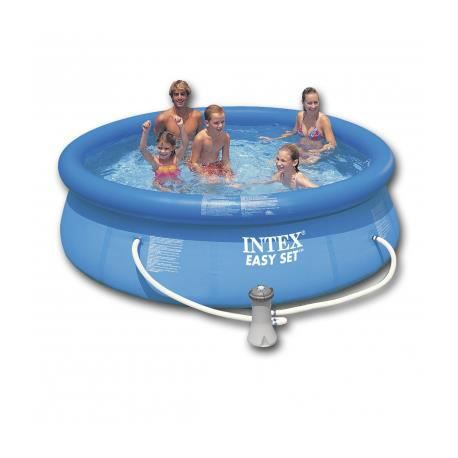 Intex piscine gonflable ronde 244 x 76 cm stylashop for Piscine gonflable ronde
