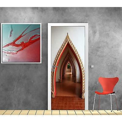 Stickers porte trompe l oeil d co orientale r f 810 for Decoration porte orientale