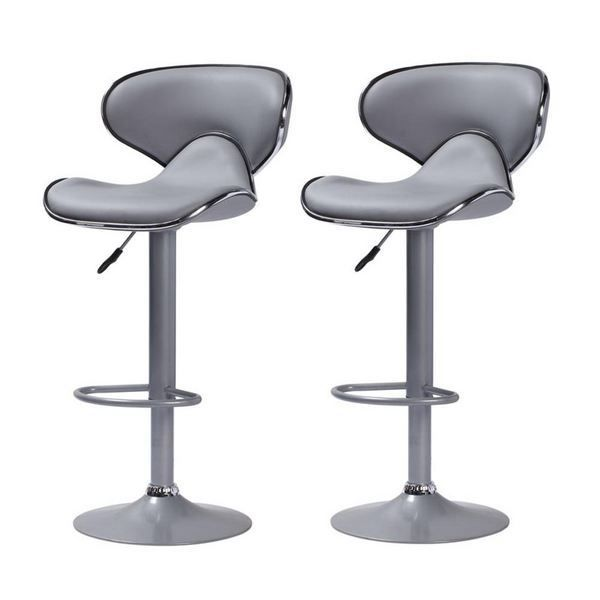 lot de 2 tabourets de bar colorado gris taupe achat vente tabouret de bar gris cdiscount. Black Bedroom Furniture Sets. Home Design Ideas