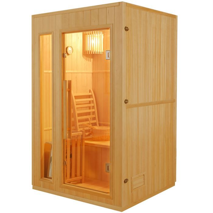 sauna traditionnel finlandais 2 places achat vente kit. Black Bedroom Furniture Sets. Home Design Ideas