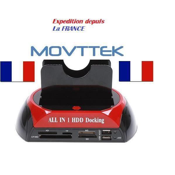"""STATION D'ACCUEIL  MOVTTEK® Station Accueil Dock pour Disque Dur 2.5"""""""