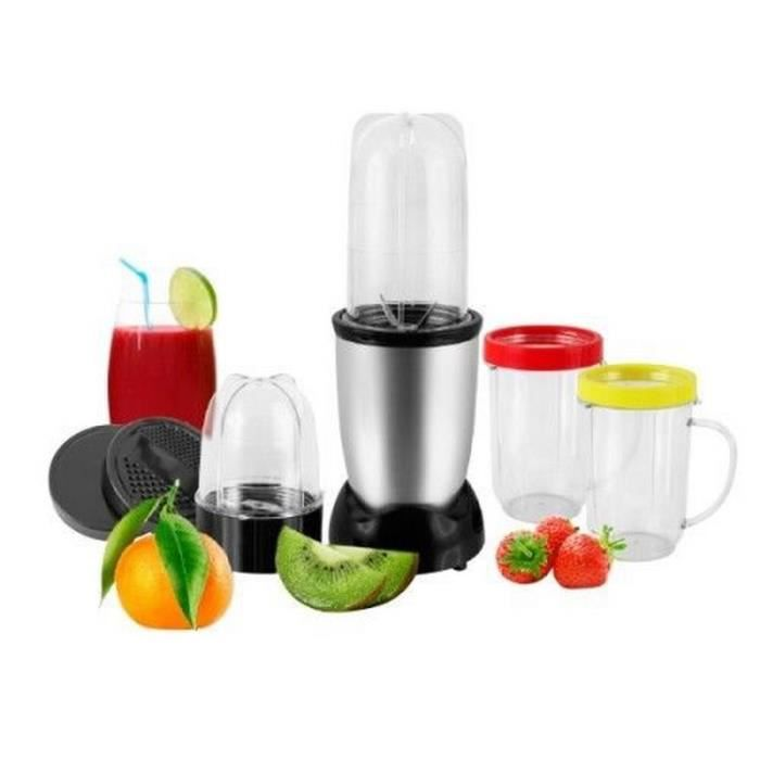 Robot de cuisine blender mixeur 11 pieces magic fruit jus for Robot mixeur cuisine
