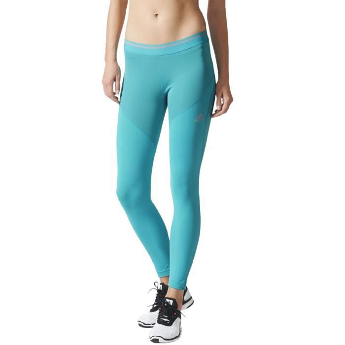 finest selection e79b2 304ad Adidas Techfit Chill Femme Course À Pied Collants Bleu